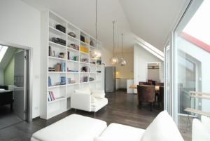 Nový mezonetový byt 3+kk s galerií 96,4 m2 a s terasou a parkovacím stáním Praha 4 - Nusle Mojmírova ulice