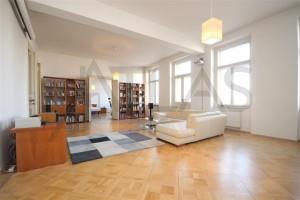 Obývací pokoj - Pronájem bytu 4+kk, 200 m2, Praha 2 -Vinohrady, Čelakovského sady