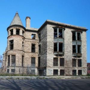 nekontrolovaný úpadek centrálních městských oblastí v USA