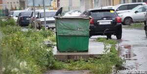 obyvatelé Omsku si všimli potkanů u popelnic
