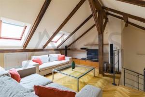 obývací pokoj Pronájem zařízeného bytu 3+1, 144 m2 , Polská ulice, Praha 2 - Vinohrady