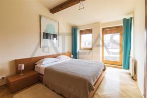 ložnice Pronájem zařízeného bytu 3+1, 144 m2 , Polská ulice, Praha 2 - Vinohrady