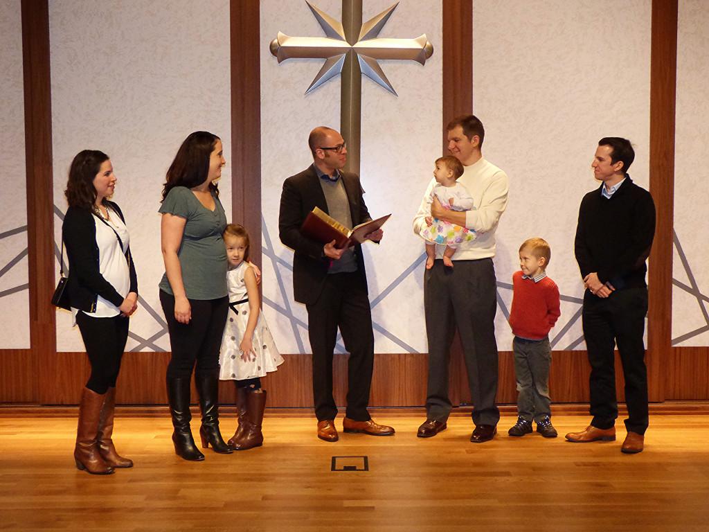 Ceremoniál křtin v Scientologické církvi v Portlandu 1