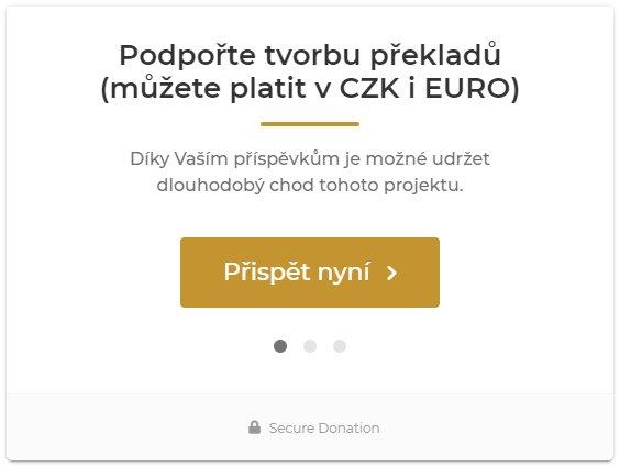Podpořte tvorbu překladů
